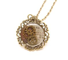 Steampunk Sun with Gears vintage resin antique by TaimatTea