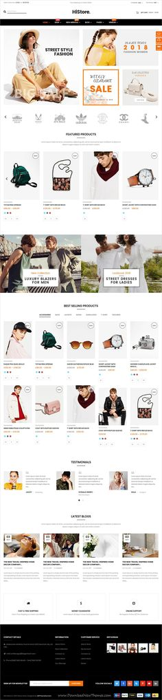 HiStore is clean and modern design responsive 5+ WooCommerce #WordPress theme for stunning #fashion store #eCommerce website with 2 mobile layouts to live preview & download click on Visit