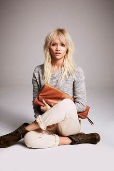 Charlotte Carey Takes it Easy for Free People Lookbook