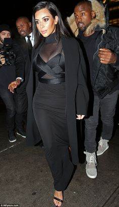 Good choice: Kim Kardashian may have not been on the catwalk during New York Fashion Week,...