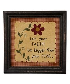 'Faith' Framed Wall Art by Pearson's Simply Primitives Primitive Embroidery Patterns, Primitive Stitchery, Wool Applique Patterns, Primitive Crafts, Embroidery Hoop Art, Cross Stitch Embroidery, Embroidery Designs, Primitive Sayings, Primitive Sheep