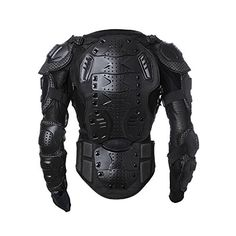 Men's Motorbike Motorcycle Protective Body Armour Armor Jacket Guard Bike Bicycle Cycling Riding Biker Motocross Gear Black (Medium)