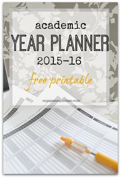 Academic year planner 2015 2016 printable - make this year really organised with this planner
