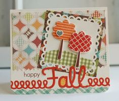 Happy Fall Card by Betsy Veldman for Papertrey Ink (September 2012)