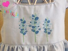 Get ready for spring and Blue Bonnets with this Triple Blue Bonnet Cross Stitch Embroidery Design.  This design comes in 3 sizes to fit hoops size 4x4, 5x7, and 6x10.  Cross Stitch Embroidery will give your items a vintage and classic feel.  This simple design is perfect for a tee, dress, or home decor.