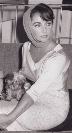 liz taylor and yorkshire terrier