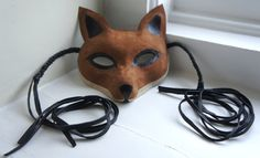 suede fox mask. $$$.