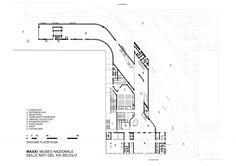 MAXXI Museum / Zaha Hadid Architects ground floor plan Zaha Hadid Architects, Arquitetos Zaha Hadid, Hospital Architecture, Museum Architecture, Space Architecture, Zaha Hadid Interior, Zaha Hadid Design, Zaha Hadid Buildings, Museum Plan
