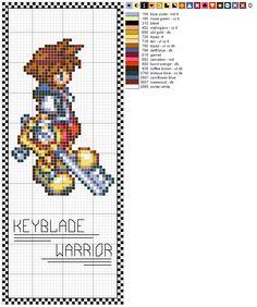 Sora Bookmark pattern by ~Kairi-loves-Sushi on deviantART