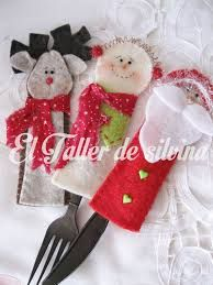 Resultado de imagen para decoracion navideña para cubiertos Christmas Crafts, Xmas, Christmas Ornaments, Decor Crafts, Diy Crafts, Christmas Tablescapes, Holiday Time, Nativity, Christmas Stockings
