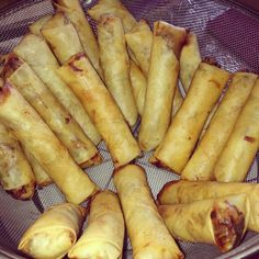 Made egg rolls with mom today.