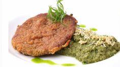 Lomo apanado con quinoa verde