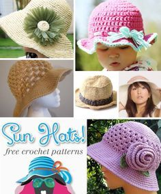 Crochet Sun Hat Free Pattern Collection...love these!