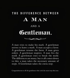 A man and a gentleman