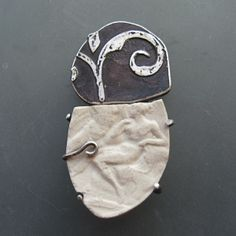 Lora Hart. Fragment Brooch #2 Contrast...color, material, pattern, texture