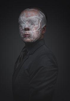 Plastered Mask Portraits : Studies 2013 by Ruadh DeLone Creative Portraits, Creative Photography, Portrait Photography, Male Portraits, Editorial Photography, Plastic Art, A Level Art, Shooting Photo, Identity Art