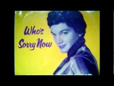 Who Is Sorry Now - Connie Records -- ( on intro Connie Francis ).wmv I'm having a hard time placing some of these songs. This is more of a ballad so. 50s Music, Connie Francis, American Bandstand, Greatest Songs, Motown, Kinds Of Music, Music Publishing, Country Music, Music Artists