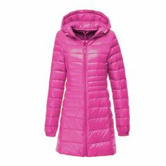 2017 New Brand Ladies Long Winter Warm Coat Women Ultra Light 90% White Duck Down Jacket With Bag Women Jackets High Quality