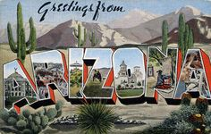 Greetings from Arizona - Large Letter Postcard by Shook Photos, via Flickr