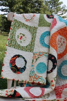 Lap Quilt  Googly Eyes in the Sassy by CottonBerryQuilts on Etsy, $125.00