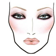 Face Chart - Dramatic makeup