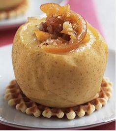 Pommes farcies aux fruits secs et à l'orange