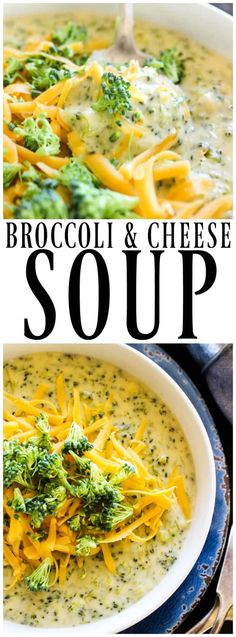Best ever BROCCOLI & CHEESE SOUP. Made with fresh broccoli and three kinds of cheese; this recipe is easy, simple and ready in 45 minutes. #soup #broccoliandcheese #broccoli #souprecipes #30minutemeal #dinner #recipes