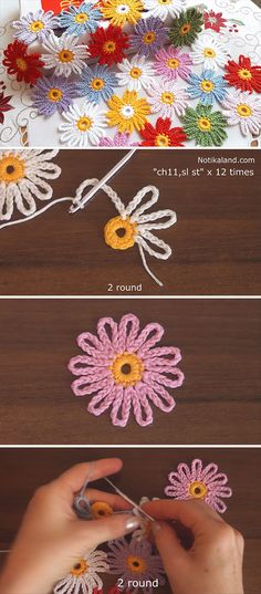Lovely Crochet Flower Pattern You Need To Learn – Crochet Flowers The Effective Pictures We Offer You About ganchillo crochet patrones A. Crochet Motifs, Crochet Flower Patterns, Afghan Crochet Patterns, Flower Applique, Thread Crochet, Crochet Shawl, Crochet Crafts, Crochet Flowers, Crochet Stitches
