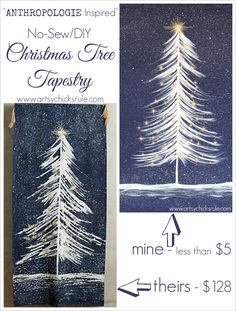 No Sew DIY Anthrologie Inspired Christmas Tree Tapestry....budget friendly!!!