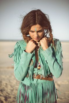 Cowgirl Dreams Tassel Jacket – Turquoise « Spell & the Gypsy Collective.