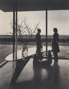 ISAMU NOGUCHI, The artist with the Goodyear table (1939), A. Goodyear House, Long Island, New York. Image copyright The Isamu Noguchi Foundation and Garden Museum, New York. / Phillips