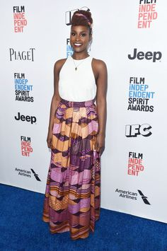 """""""Insecure"""" actress Issa Rae attends the 2017 Film Independent Filmmaker Grant and Spirit Award Nominees Brunch in West Hollywood, California"""