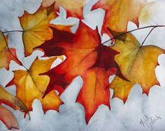 "Zorn Palette Painting Challenge Watercolor Winner: Melody Greenlief ""Zorn Leaves"" www.facebook.com/BlickArtMaterials"