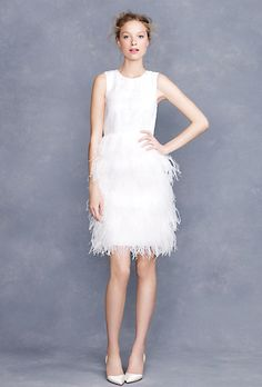 Brides: Affordable Wedding Dresses (Under $1,000!). Embroidered feather dress, style 77802, $895, J.Crew
