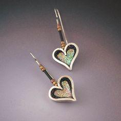 Heart Earrings by Liz Hall