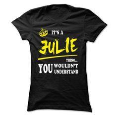 JULIE T shirts, JULIE hoodie - #statement tee #hoodie and jeans. GET IT => https://www.sunfrog.com/LifeStyle/JULIE-T-shirts-JULIE-hoodie-Ladies.html?68278