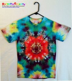 Tie Dye Tshirt  Tropical Storm  100 Cotton by RainbowEffectsTieDye, $12.50