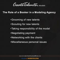 Did you know how hard our bookers work? The role of a booker in a modeling agency.