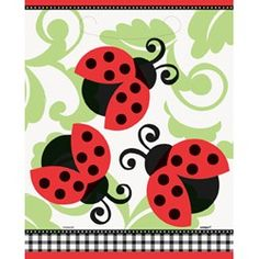 Ladybugs Favor Bags (8 Pack)