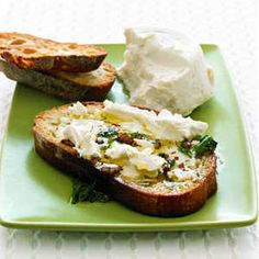Last-Minute Appetizers | Goat Cheese Bruschetta | MyRecipes