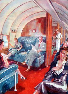 Interior Pan Am Clipper Geo Ham 1943