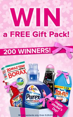Repin if you want to win a laundry essentials prize pack and click to enter! #MothersDay