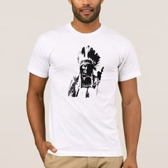 Black & White Geronimo T-Shirt - tap, personalize, buy right now! Famous Men, Famous People, Boxing T Shirts, American Apparel, Cool T Shirts, Fitness Models, Shirt Designs, Geronimo, Style Inspiration