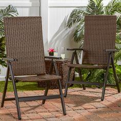 Hand Woven Polyethylene Wicker Outdoor Reclining Lounge Chair