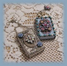 altered jeweled mini matchboxes                                                                                                                                                                                 More
