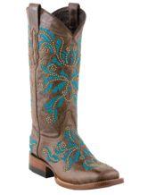 "Women's Pinecone Norwood Calf ""Studded Angelina"" Horseman Boots"