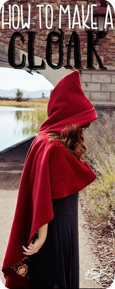I love the how to make a cloak tutorial. Great fleece sewing project and costume idea DIY. Perfect for adding a little drama or warmth to a costume or cosplay. Love how there is a free pdf sewing pattern to go with it.