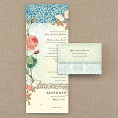 Ombre Lace - Seal 'n Send Invitation. All this beauty at an affordable price! There are even gold foil accents on the vintage, ombre lace and rose design seal 'n send wedding invitation. Discount Wedding Invitations, Affordable Wedding Invitations, Vintage Wedding Invitations, Wedding Invitation Wording, Party Invitations, Invitation Ideas, High Tea Wedding, Wedding Blog, Craft Wedding