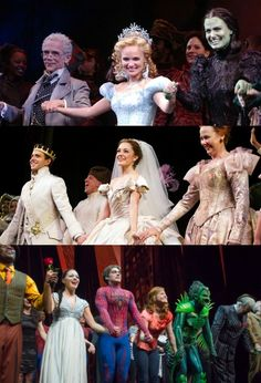 Broadway curtain calls pt. 1 (Wicked, Rodgers and Hammerstein's Cinderella, and Spider-Man: Turn Off the Dark)