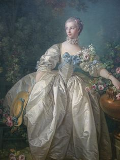 Madame Bergeret    oil on canvas 1746  French  Francois Boucher (1703 - 1770)
